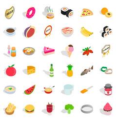 kettle icons set isometric style vector image