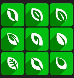 Leave Icons Set vector image