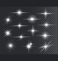 Light effect lens flares glow light starburst vector