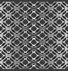 metallic grid with shadow on black seamless vector image