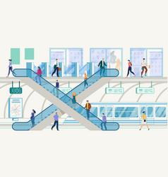 metropolis public transport hub concept vector image