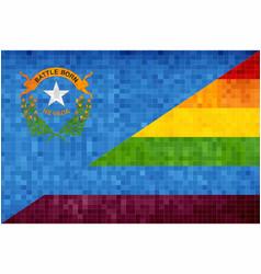 Mosaic nevada and gay flags vector