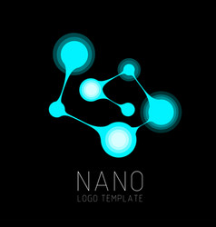 nanotechnology creative logo design vector image
