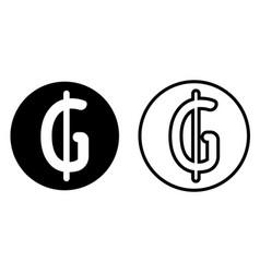 paraguayan guarani currency symbol icon vector image