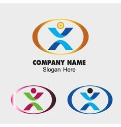 People symbol Success creative concept icon vector