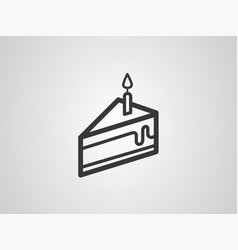 piece of cake icon sign vector image