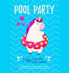 Pool party invitation template background for vector