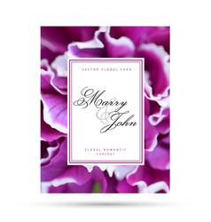 Purple fuchsia floral card for wedding invitation vector