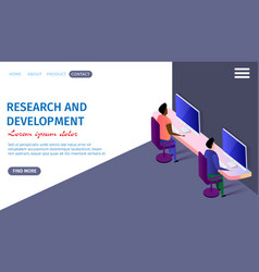 research and development horizontal banner vector image