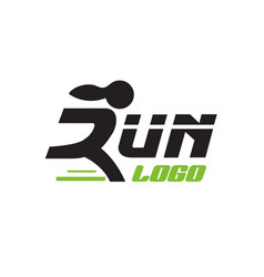 run logo designs modern and simple vector image