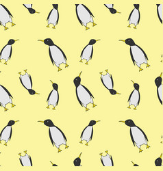 seamless pattern of pinguins vector image