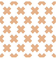 Seamless pattern with crosses vector