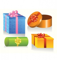 set of colorful gift boxes vector image