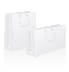 set of white blank paper shoping bag vector image vector image