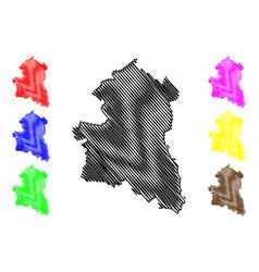 Sing buri province map vector
