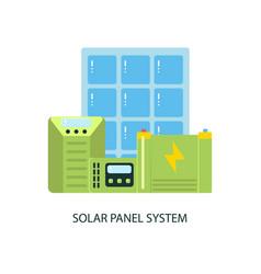 solar panel system equipment vector image