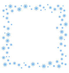 Square christmas border or frame with random vector