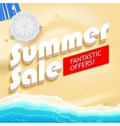 Summer sale bright vector image