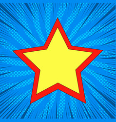 Superstar comic bright template vector