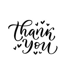 thank you card text give thanks graphic vector image