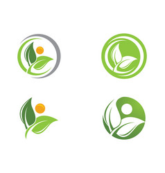 Tree leaf logo design eco-friendly concept vector