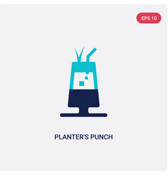 two color planters punch icon from drinks concept vector image