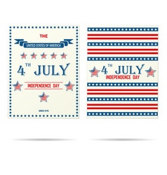 two usa holiday porsters vector image