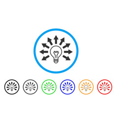 Ultraviolet lamp rounded icon vector