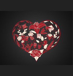 Valentine in the form of branching and twisting vector