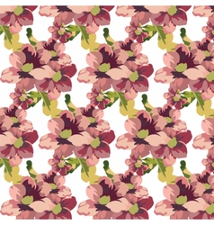 Vintage Watercolor geranium flowers pattern vector