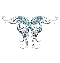 Wing shape tattoo vector image
