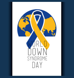 world down syndrome day banner celebration event vector image