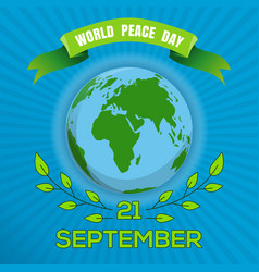 world peace day poster design vector image