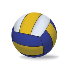 Yellow and Blue Volleyball Isolated on White vector