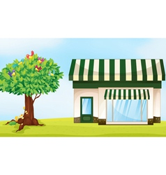 house and tree vector image vector image