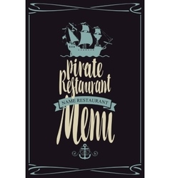 menu pirate restaurants vector image vector image