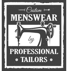 Professional tailor label vector image vector image