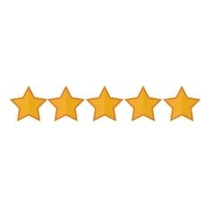 5 stars icon image vector image
