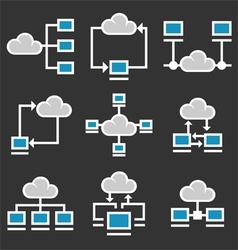 Cloud Computing Icons Set vector image vector image