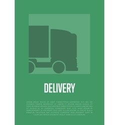 Delivery banner with truck silhouette vector