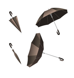 Isolated open and close umbrella inverted umbrella vector