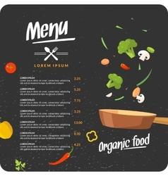 Modern background for restaurant menu vector image vector image