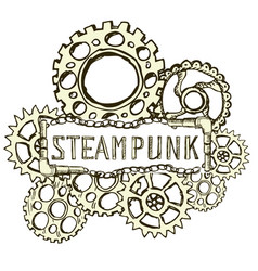 steampunk style background vector image