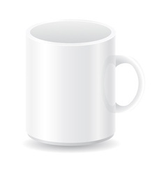 white blank cup vector image vector image