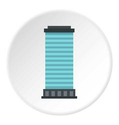 Column icon circle vector