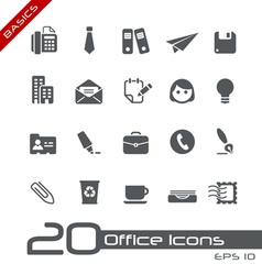 Office Business Basics Series vector image vector image