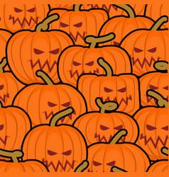 pumpkin seamless pattern halloween background vector image vector image