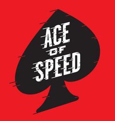 ace of speed retro design vector image vector image