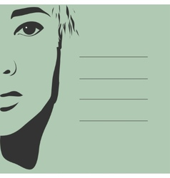 black silhouette of a beautiful girl face vector image vector image
