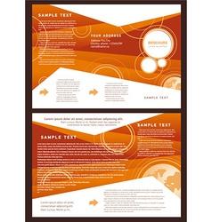 brochure folder globe element design vector image vector image